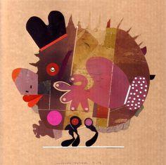 Morteza Zahedi - Animal Series. Mixed Media, 2012