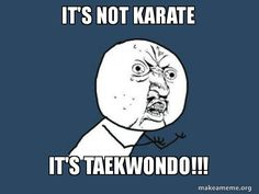When people can't ever remember what martial art you do #taekwondo