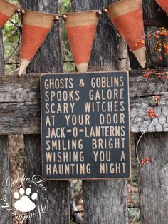 Halloween sign & Candy Corn Banner