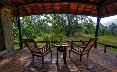 """Kanha Earth Lodge: Forest Fantasy """"There are theme resorts and then there are resorts that are practically indistinguishable from the theme. #Kanha Earth Lodge is the forest, you realise, as you step into the stone flooring in your cottage and drop your bags on the table fashioned out of a rough-hewn timber stump. """" By Ankita Shreeram To read the complete article visit here: http://goo.gl/9FflgS"""