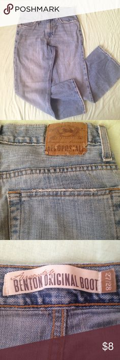 (Men/Boy) Aeropostale Faded Jean Some shredding at the very bottom and around pockets but hardly noticeable Aeropostale Jeans
