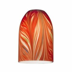 Amazon.com: Red Art Glass Shade - Lipless with 1-5/8-Inch Fitter Opening: Home Improvement