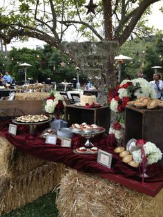 rustic party ideas | Rustic Buffet | Party Ideas