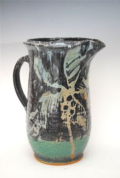 Tropical Ceramic Pitcher