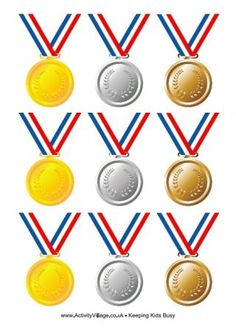 Olympic Medals with Ribbon