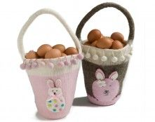 En Gry of Sif fair trade Easter egg baskets, hand-made of felt in Nepal