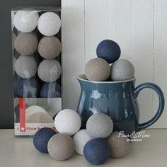 Cotton Ball Lights Cornflower/Latte