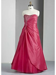 Taffeta Sweetheart Delicately Gathered Bodice Long Special Occasion Dress