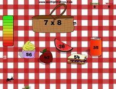Interaktív matematika - szorzótábla gyakorlása