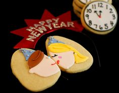 happy new year party cookies