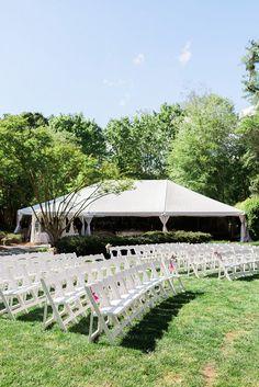 Simple Outdoor Ceremony Seating Arrangement