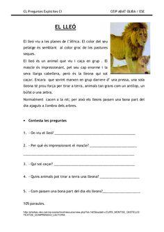 Preguntes explicites Catalan Language, Lectures, Album, Valencia, Comprehension, Homeschool, Classroom, Teacher, Activities