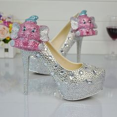 Rhinestone Platform High Heels Crystal Diamond Bridal Pumps Women Pearl Prom Shoes 2    https://www.lacekingdom.com/   Lace Kingdom: Everything You Need for #Weddings & Events