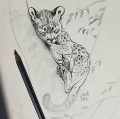 Awwwww what a cute drawing. Art Painting, Animal Art, Animal Drawings, Art Sketchbook, Cat Art, Animal Sketches, Animal Drawings Sketches, Drawing Sketches, Art Drawings Sketches Simple