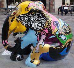 Copenhagen 2011 Title: Tears of Deliverance Artist: Sasha Henneberg Bach Location: Amagertorv African Forest Elephant, Asian Elephant, Elephant Love, Elephant Design, Elephant Stuff, Elephas Maximus, City Events, Elephant Parade, Elephants