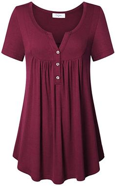 online shopping for Ca Kra Tunics Women, Short Sleeve Tunic Tops Henley Shirts Leggings from top store. See new offer for Ca Kra Tunics Women, Short Sleeve Tunic Tops Henley Shirts Leggings Short Sleeve Tunic Tops, Short Sleeve Dresses, Simple Dress Casual, Indian Tunic Tops, Shirts For Leggings, Tunic Tops With Leggings, Kurta Designs Women, Camisa Formal, Plus Size Kleidung