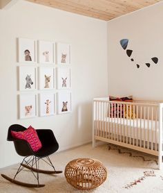 A fabulous round up of the most beautiful Modern Nursery Inspiration! Stay tuned to see what I pull from this inspo for my own nursery! Baby Bedroom, Baby Boy Rooms, Baby Boy Nurseries, Nursery Room, Kids Bedroom, Kids Rooms, Bedroom Ideas, Room Kids, Bedroom Apartment