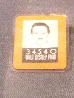 Walt Disney's employee identification badge