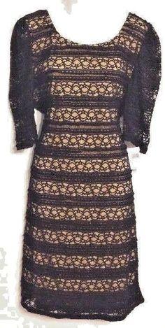 Liberty Love Size 2XL Dress Black Lace Overlay Beige Liner Polyester Elegant NWT #LibertyLove #SexySheathStretchBodycon #LittleBlackDress