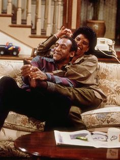 Bill Cosby and Phylicia Rashad as Cliff & Clair Huxtable in The Cosby Show Tv Show Couples, Movie Couples, Famous Couples, Black Marriage, Beaux Couples, History Of Television, The Cosby Show, Family Show, Real Family