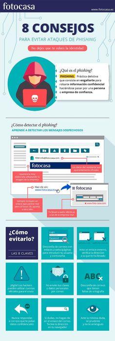 8 consejos para evitar el phishing #infografia
