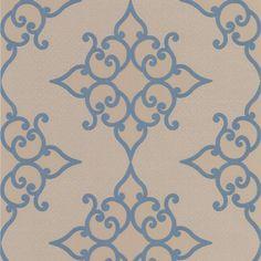 Sebastian Blue Crepe Moroccan Medallion - Wallpaper