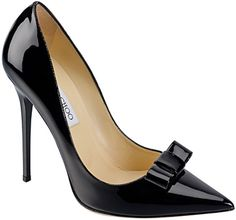 jimmy-choo-cruise-2013-collection-maya, perfect black pump with bow detail!!