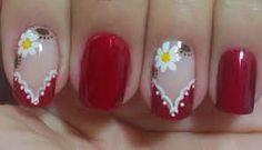 Imagen relacionada Cute Acrylic Nails, Nail Designs, Nail Art, Beauty, Designed Nails, Enamels, Flower, French Nails, Toe Nail Art