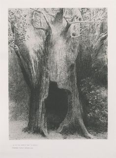 I plunged into solitude. I dwelt in the tree behind me. (plate 9) 1896 Odilon Redon