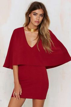 Tuck and Cover Cape Dress