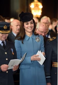 duchesskate:  The Duchess of Cambridge, Patron, attended the 75th anniversary of the RAF Air Cadets, St Clement Danes Church, London, February 7, 2016