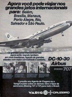 Os incríveis anos 70 - Marcas, lojas e empresas brasileiras que não existem mais | Blog do Paz Military Helicopter, Commercial Aircraft, Old Signs, Air Travel, Vintage Travel Posters, Flight Attendant, Vintage Advertisements, Nostalgia, Vintage Cars