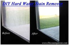 Do It Yourself Hard Water Stain Remover! Only TWO Ingredients! I've tried everything to remove Hard Water Stains! No Windex, Scrubbing Bubble or Lime-A-Way could make this stain budge! I found one that is AMAZING!! You're going to love this one too…I promise ---> http://www.discountqueens.com/hard-water-stain-remover-ingredients/