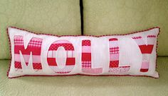 reverse applique personalized pillow