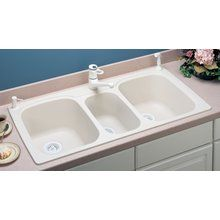 View the Swanstone KSTB-4422 Kitchen Sink Triple Basin with Two Large and One Small Bowls at FaucetDirect.com.