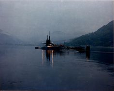 USS George C. Marshall (SSBN-654) at anchor at Site 1 in Holy Loch, Scotland.