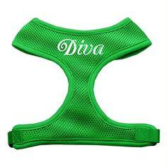 Diva Design Soft Mesh Harnesses Emerald Green Medium