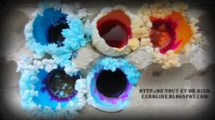 Growing a crystal garden in eggshells - better than charcoal pieces
