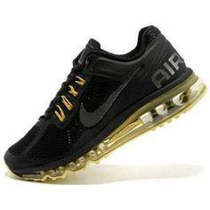 http://www.asneakers4u.com/ Cheap air max 2013 nike womens shoes black yellow