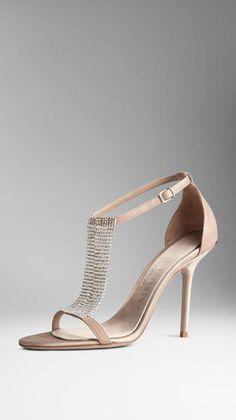 Burberry Crystal embellished Sandals €725 #Shoes #Heels