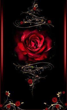 Beautiful tattoo idea of this Rose design Gothic Wallpaper, Heart Wallpaper, Cute Wallpaper Backgrounds, Cellphone Wallpaper, Flower Wallpaper, Beautiful Rose Flowers, Beautiful Flowers Wallpapers, Pretty Wallpapers, Wallpaper Bonitos