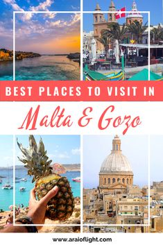 Want to know the best places to visit in Malta and Gozo? Find out exactly where to go, attractions and things to do in Malta here [UPDATED WITH PHOTOS] Malta Travel Guide, Europe Travel Guide, Europe Destinations, Travel Images, Travel Photos, Malta Gozo, Malta Island, Cruise Excursions, Blue Lagoon
