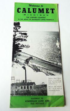 Vintage Brochure Calumet Michigan Gateway to Keweenaw Land Isle Royale   eBay