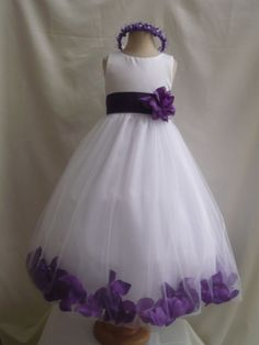 Purple Flower Girl Dresses | towhite purple has beautiful blue purple white lilac purple shipping