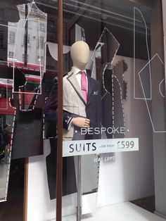 "BESPOKE,London,UK, ""Men's suits made to an individual buyer's specification by a tailor"", pinned by Ton van der Veer"