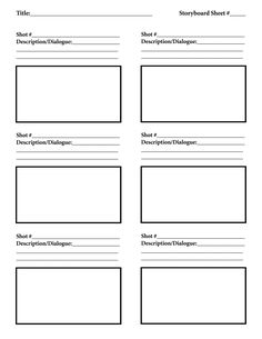 Photoshop Storyboard Templates Photoshop Photography Templates
