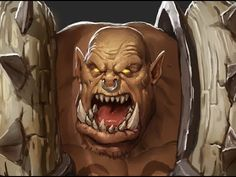 Digital Painting Process: Garrosh Hellscream - With Commentary (Strong L...