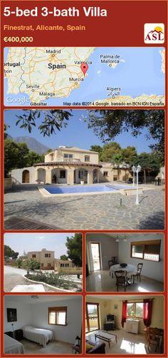 5-bed 3-bath Villa in Finestrat, Alicante, Spain ►€400,000 #PropertyForSaleInSpain