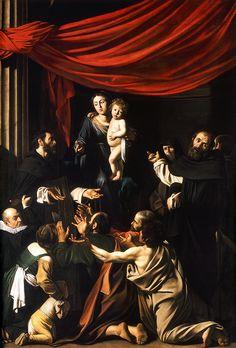 Caravaggio, Madonna del Rosario, 1607, Vienna, Kunsthistorisches Museum
