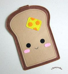 """There's nothing about this I don't like! iPhone Case - Cell Phone Case - iPhone 4 Case - iPod Case - iPod Touch Case - Handmade iPhone Felt Case - """" Kawaii Toast """" Design. $18.00, via Etsy."""
